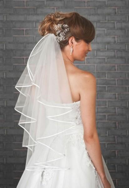 Soft Brautschleier 1-stufig, 70 cm