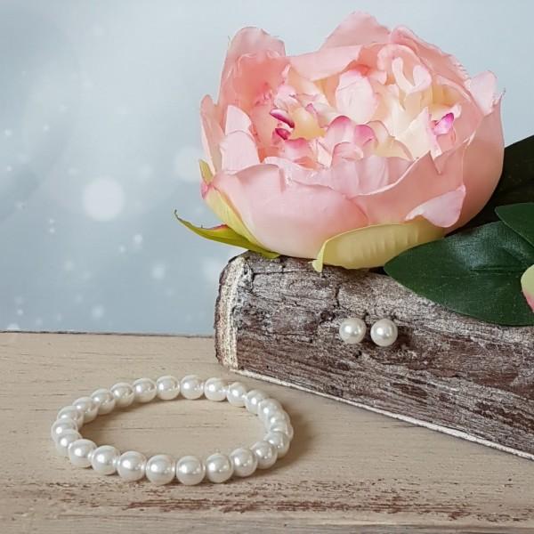 Brautschmuck Armband + Ohrringe