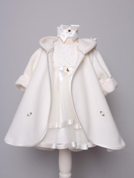 Taufkleid inkl. Mantel in creme ♥ Lotta