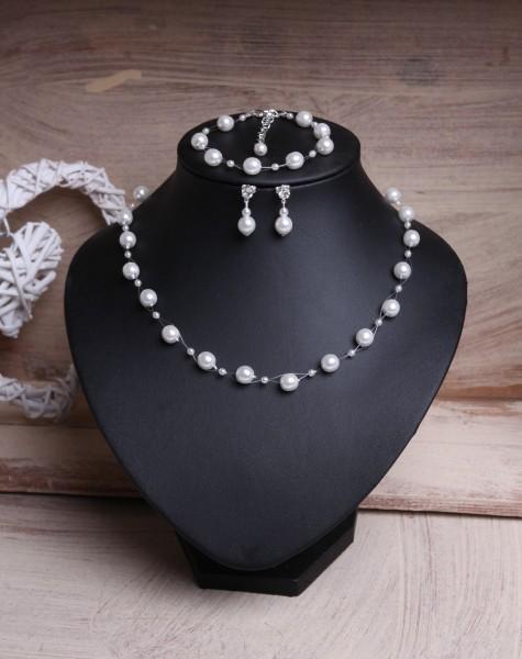 Brautschmuckset Perlen