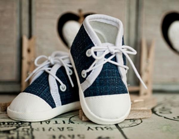 Mokassins in Jeans-Look, blau