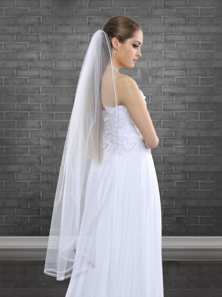 Brautschleier 1-stufig, 130 cm