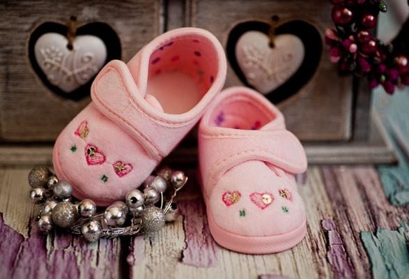 Taufschuhe ♥ Ballerinas in rosa
