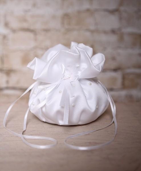 Brautbeutel mit Perlen