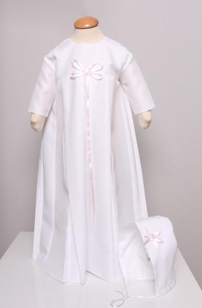 Traditionelles Taufkleid mit Haube, lang - Mädchen