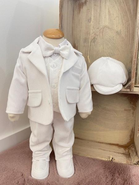 Julian ♥ Cord-Taufanzug in weiß