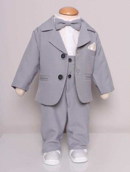 NOAH ♥ Taufanzug mit Hosenträger in grau
