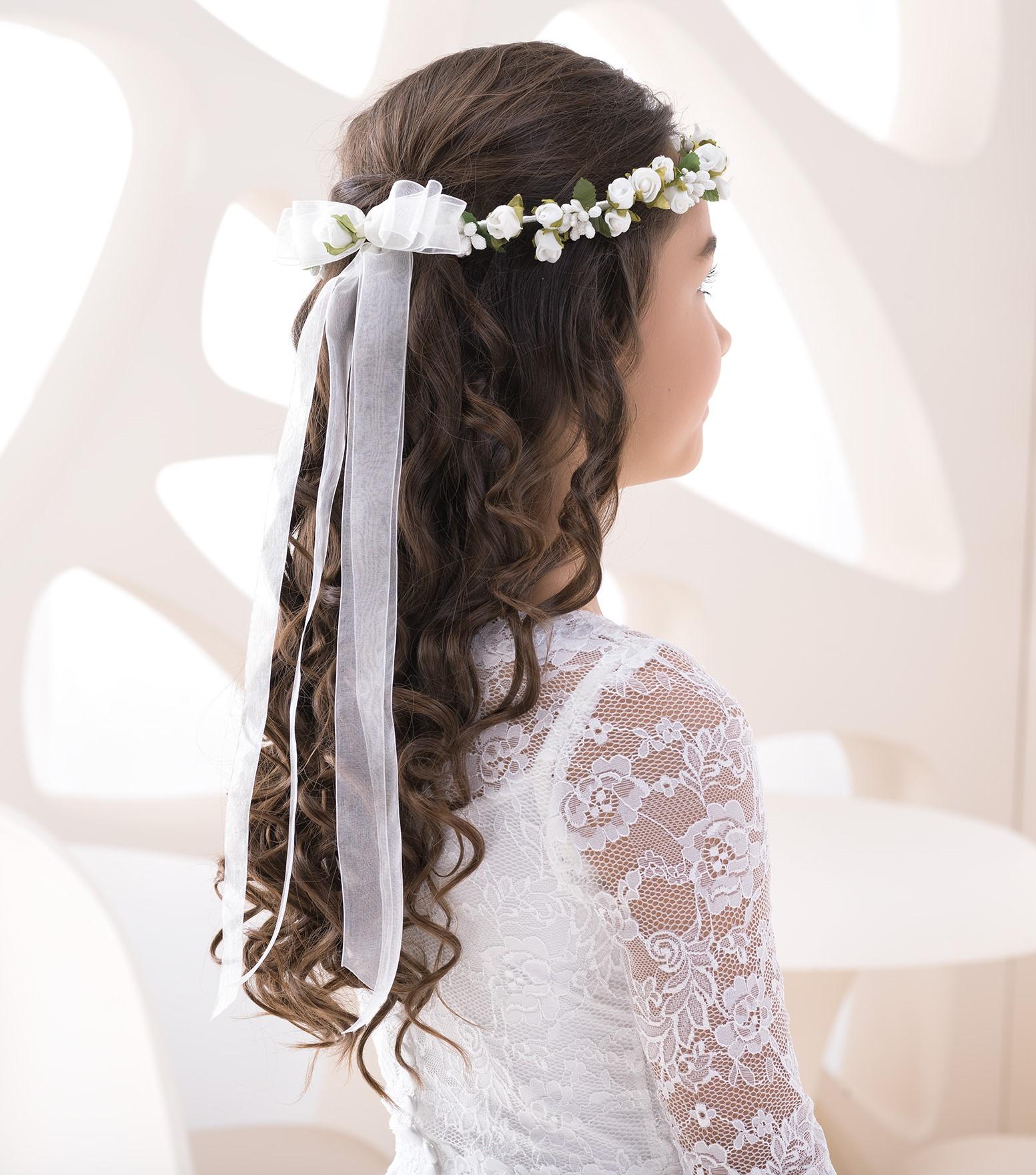 Haarkranz Haarschmuck Kranz Kommunion Blumenmädchen
