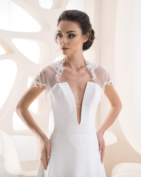Bolero zum Brautkleid mit Spitze, kurzarm
