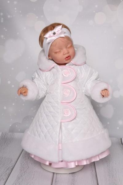 Baby Mantel mit Mütze