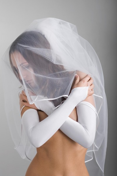 Lange Brauthandschuhe
