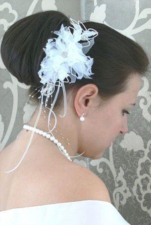 Haarschmuck Blume mit Strass