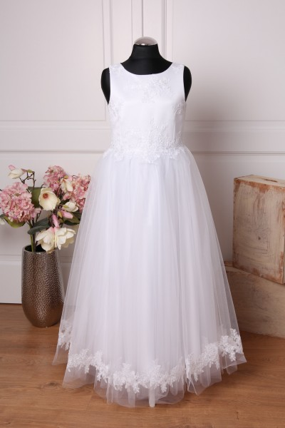 Ella ♥ Kommunionkleid mit Spitze in weiß