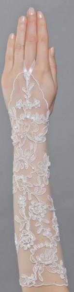 Brauthandschuhe aus Tüll und Spitze