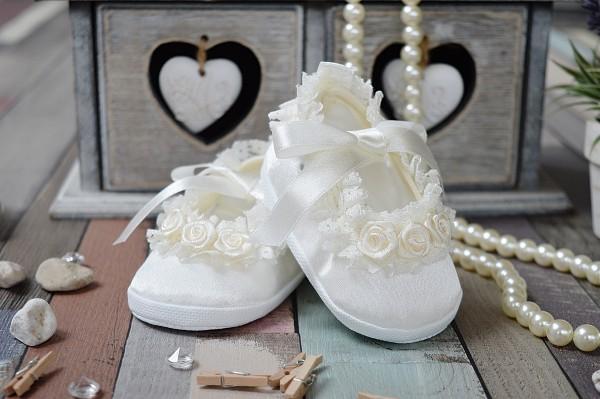 Taufschuhe ♥ Ballerinas in creme