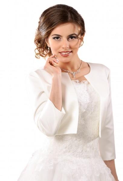Brautbolero, Brautjacke aus Satin