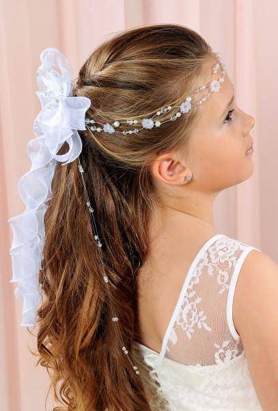 Haarkranz mit Perlen und Schleifen