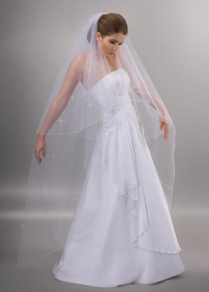Brautschleier mit Strass, 170 cm
