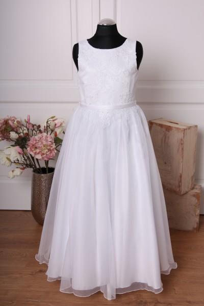 Linda ♥ Kommunionkleid mit Spitze in weiß