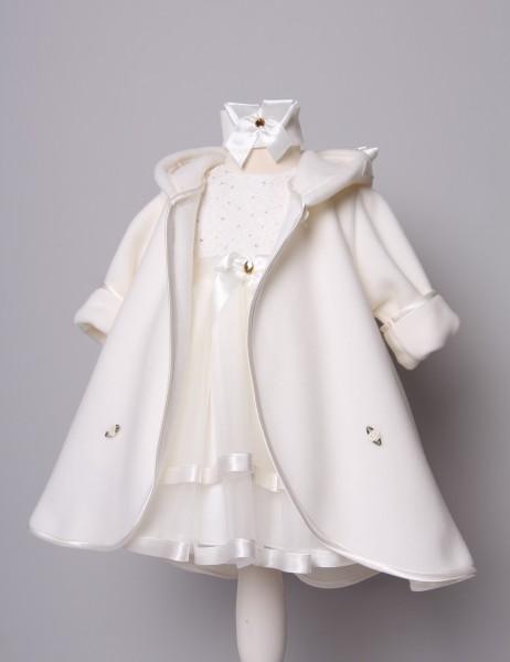 Mantel zum Taufkleid in creme