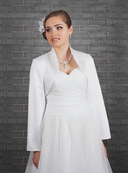 Brautbolero aus Taft, langarm