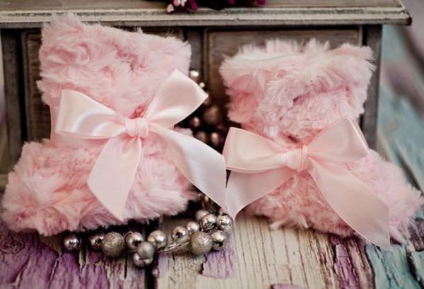 Winter-Taufschuhe, rosa